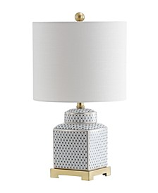 "Cleo 21.5"" Ceramic,Metal Ginger Jar LED Table Lamp"