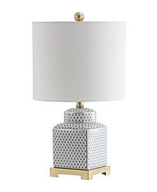 """Cleo 21.5"""" Ceramic,Metal Ginger Jar LED Table Lamp"""