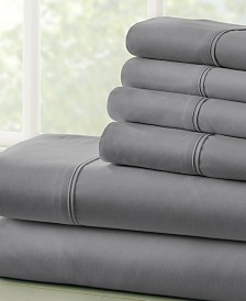 Solids in Style by The Home Collection 4 Piece Bed Sheet Set, Twin XL