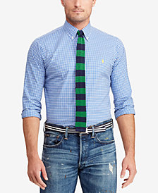 Polo Ralph Lauren Men's Big & Tall Classic Fit Plaid  Poplin Shirt