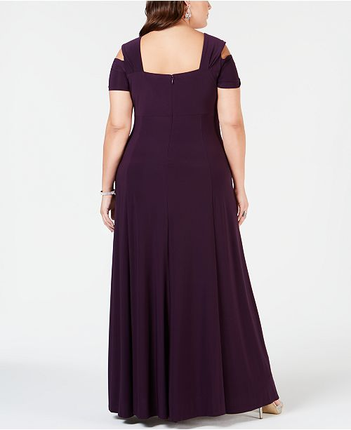 08e8f54cf40 R   M Richards Plus Size Rhinestone-Detail Gown - Dresses - Women ...