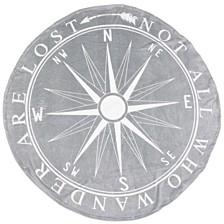 "Colleen Compass Printed Fleece Decorative 60"""