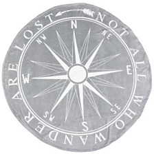 "Colleen Compass Printed Fleece Decorative Throw, 60"""