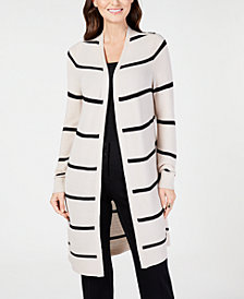 Alfani Striped Duster Cardigan, Created for Macy's