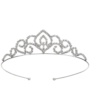 1920s Headband, Headpiece & Hair Accessory Styles Jewel Badgley Mischka Silver-Tone Crystal Tiara $48.00 AT vintagedancer.com