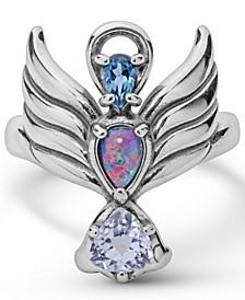 Angel Gemstone Ring in Sterling Silver
