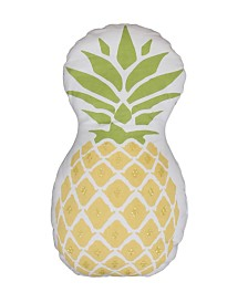 "DNU - Thro Polyester Fill Pineapple Shaped Printed with Sequins Pillow, 18"" x 18"""