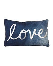 "DNU - Thro Feather Fill Rosita Love Reverse To Mermaid Sequins Pillow, 12"" x 20"""
