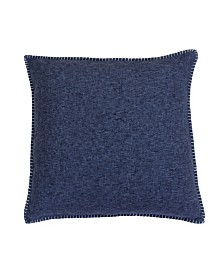 "Thro 20"" x 20"" Polyester Fill Georgetown Chunky Weave Whipstitch Pillow, Pack Of 2"