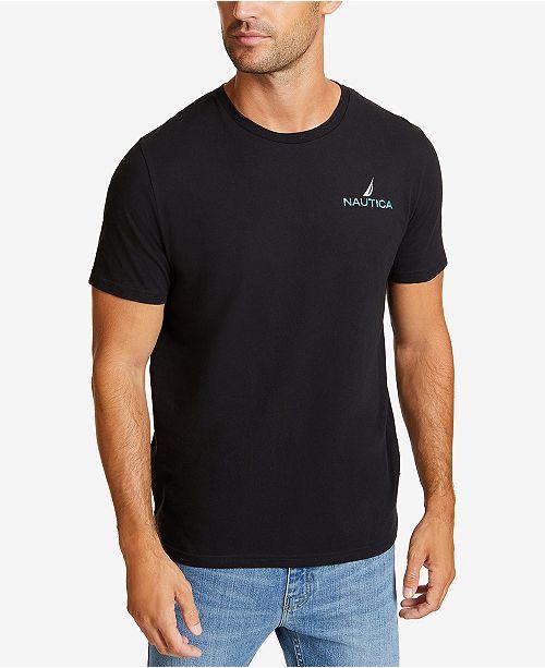458611b5f41 Nautica Men s Latitude and Longitude Graphic T-Shirt   Reviews - T ...