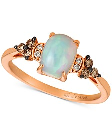 Le Vian® Opal (5/8 ct. t.w.) & Diamond (1/6 ct. t.w.) Ring in 14k Rose Gold