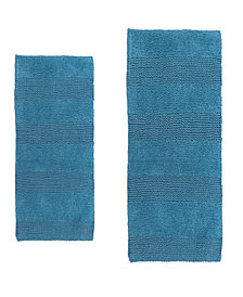 Wide Cut 2 Pc Cotton Bath Rug Set