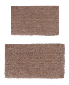 Linear 2 Pc Cotton Bath Rug Set