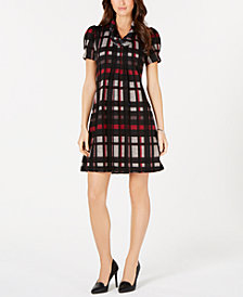 Jessica Howard Petite Plaid Sweater Dress