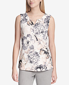 Calvin Klein Embellished Chain-Detail Top