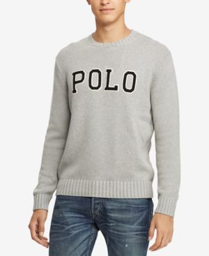 Polo Ralph Lauren Mens Logo Graphic Sweater Created For Macys In
