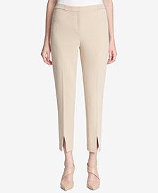 Calvin Klein Front-Slit Skinny Pants