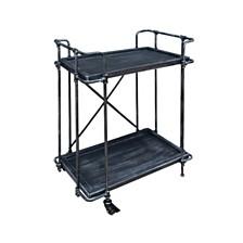 Oriole Indoor Industrial Bar Cart, Quick Ship