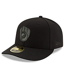 New Era Milwaukee Brewers Triple Black Low Profile 59FIFTY Fitted Cap
