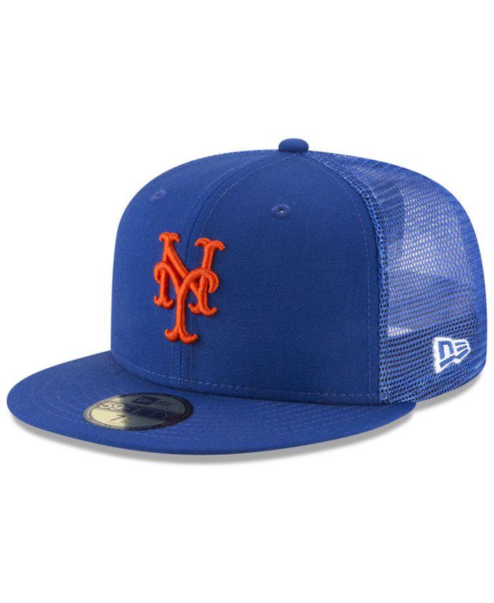 New Era New York Mets On-Field Mesh Back 59FIFTY Fitted Cap & Reviews - Sports Fan Shop By Lids - Men - Macy's