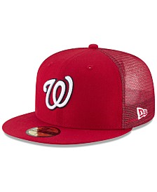 New Era Washington Nationals On-Field Mesh Back 59FIFTY Fitted Cap