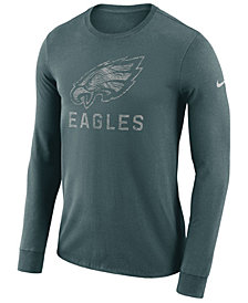 Nike Men's Philadelphia Eagles Dri-FIT Cotton Seismic Long Sleeve T-Shirt