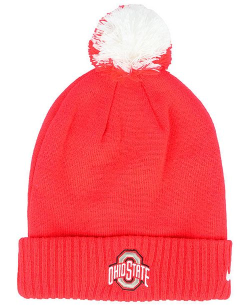 6f9b819bd37432 Nike Ohio State Buckeyes Beanie Sideline Pom & Reviews - Sports Fan ...