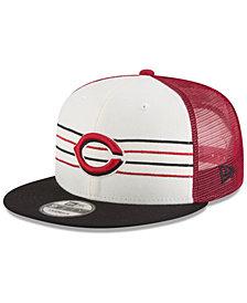 New Era Cincinnati Reds Vintage Stripe 9FIFTY Snapback Cap