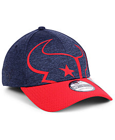 New Era Houston Texans Oversized Laser Cut Logo 39THIRTY Cap