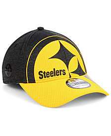 New Era Pittsburgh Steelers Oversized Laser Cut Logo 39THIRTY Cap