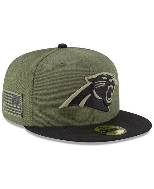b8630fc0 Carolina Panthers Salute To Service 59FIFTY FITTED Cap