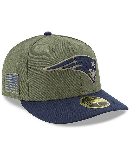 424fb0e81 New Era New England Patriots Salute To Service Low Profile 59FIFTY ...
