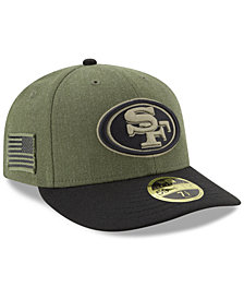New Era San Francisco 49ers Salute To Service Low Profile 59FIFTY Fitted Cap 2018