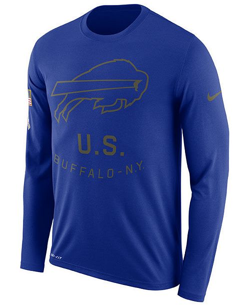premium selection 27de2 2cc03 Nike Men's Buffalo Bills Salute To Service Legend Long ...