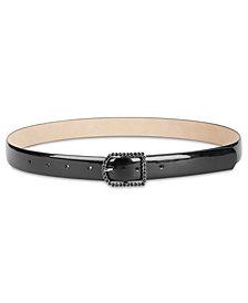 I.N.C. Rhinestone-Buckle Belt, Created for Macy's