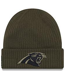 New Era Carolina Panthers Salute To Service Cuff Knit Hat