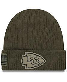 New Era Kansas City Chiefs Salute To Service Cuff Knit Hat