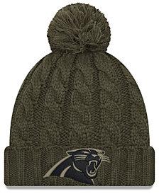 New Era Women's Carolina Panthers Salute To Service Pom Knit Hat