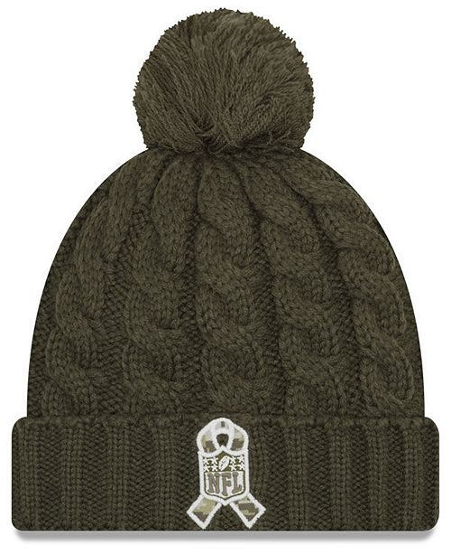 New Era Women s Green Bay Packers Salute To Service Pom Knit Hat ... 4ea6ba27e