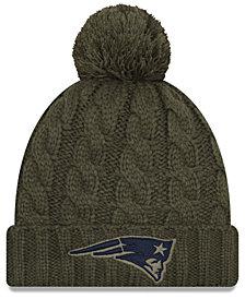 New Era Women's New England Patriots Salute To Service Pom Knit Hat