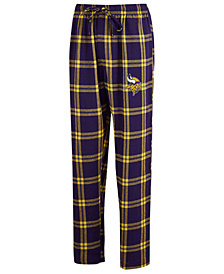 Concepts Sport Men's Minnesota Vikings Homestretch Flannel Sleep Pants