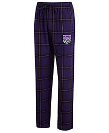 Concepts Sport Men's Sacramento Kings Homestretch Flannel Sleep Pants