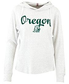 e6a047c1a2a5 Pressbox Women s Oregon Ducks Cuddle Knit Hooded Sweatshirt
