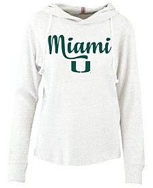 Pressbox Women's Miami Hurricanes Cuddle Knit Hooded Sweatshirt