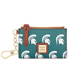 Dooney & Bourke Michigan State Spartans Zip Top Card Case