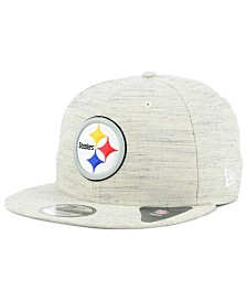 New Era Pittsburgh Steelers Luxe Gray 9FIFTY Snapback Cap