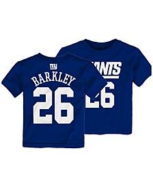 Saquon Barkley New York Giants Mainliner Player T-Shirt, Toddler Boys (2T-4T)