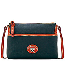 Dooney & Bourke Oakland Raiders Pebble Ginger Crossbody