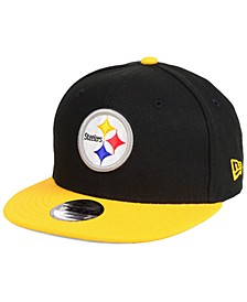 Boys' Pittsburgh Steelers Two Tone 9FIFTY Snapback Cap