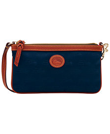 Dooney & Bourke Seattle Seahawks Embossed Nylon Large Slim Wristlet